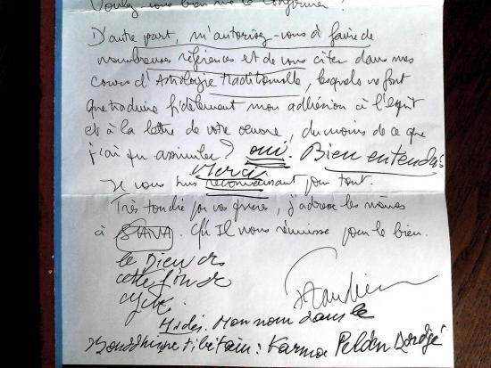 lettre par laquelle Hadès m'autorise à enseigner